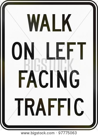 Walk On Left Facing Traffic In Canada