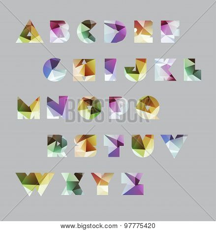 Abstract polygonal letter in Cosmic style