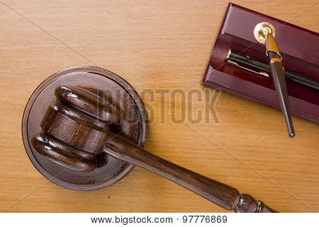 Legal Hammer And Pen