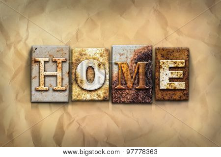 Home Concept Rusted Metal Type
