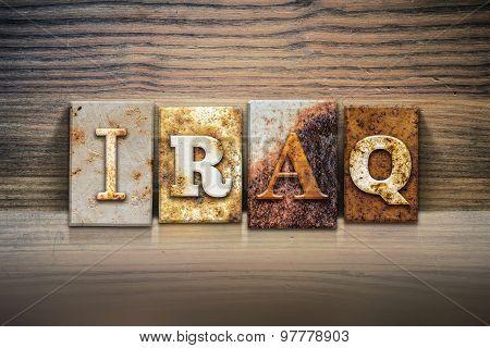 Iraq Concept Letterpress Theme