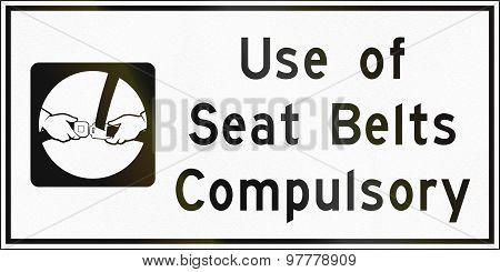 Use Of Seat Belts Compulsory In Canada
