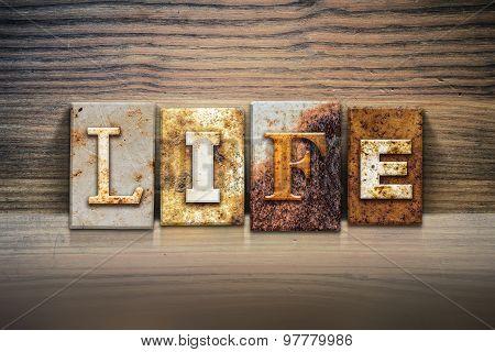 Life Concept Letterpress Theme