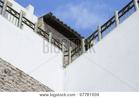 Abstract White Wall Architecture