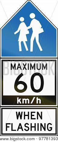 Maximum 60 Kmh When Flashing - Old Version In Canada