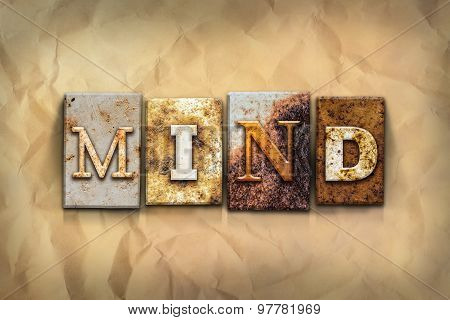 Mind Concept Rusted Metal Type