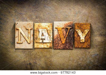 Navy Concept Letterpress Leather Theme