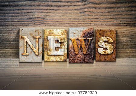 News Concept Letterpress Theme