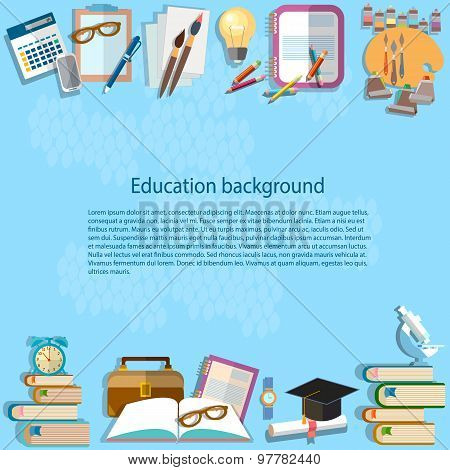 Education Background Back To School University College Institute Learning School Bag Learn Student