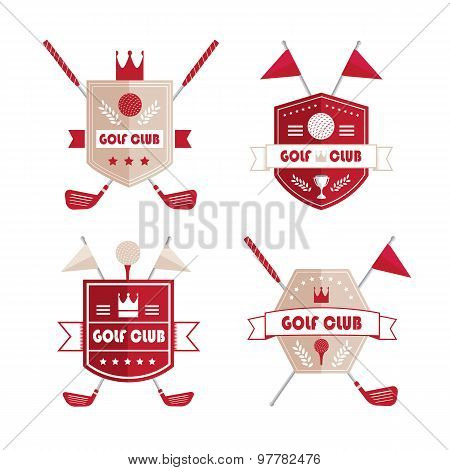 Set Of Golf Or Golf Emblems