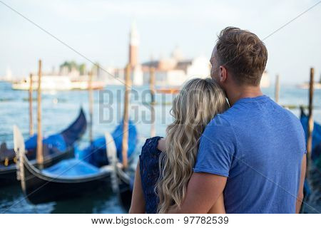 Couple visiting Venice