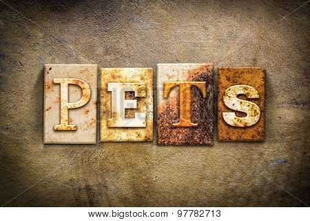 Pets Concept Letterpress Leather Theme