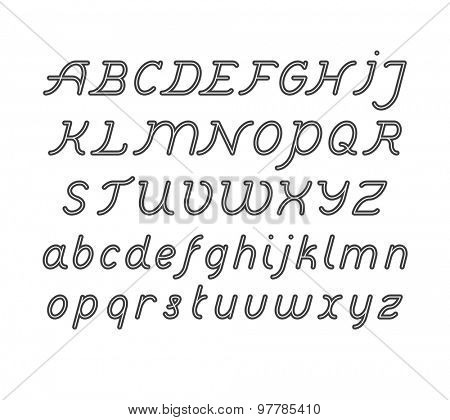 Rounded Double Line Font set