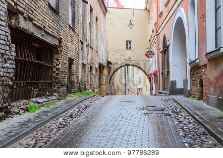 Vilnius. The Narrow Streets Of The Old Town