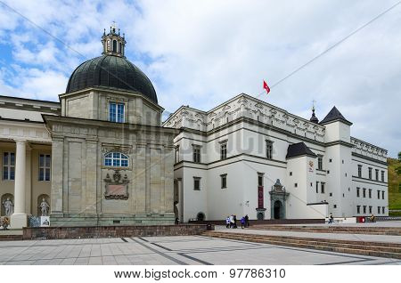 Vilnius, Cathedral Square. Chapel Of St. Casimir, Palace Of Grand Dukes Of Lithuania