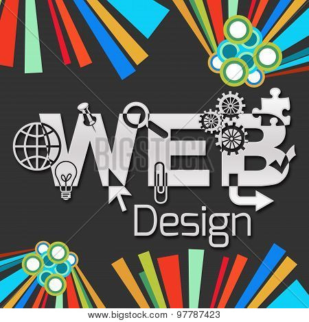Web Design Dark Colorful Elements Square