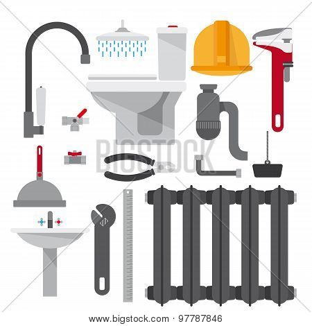 Set plumbing items