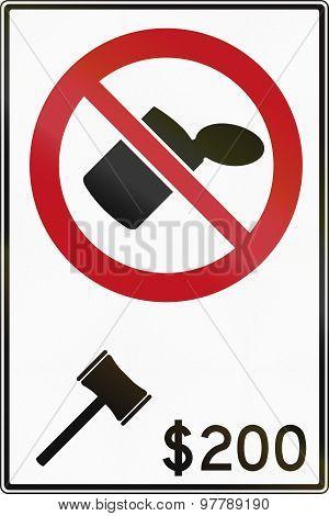 No Littering - Fine -  In Canada