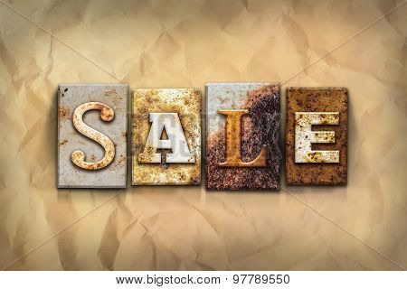 Sale Concept Rusted Metal Type