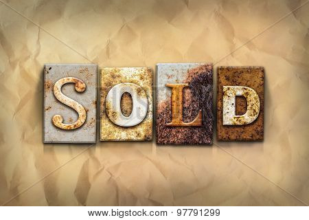 Sold Concept Rusted Metal Type