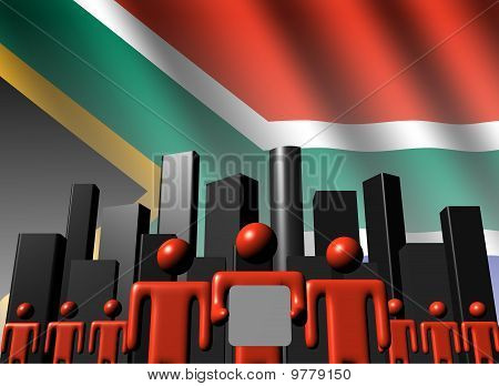 South African Business Team With Skyline