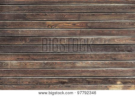 Natural Wooden Background, Table Or Boards Top View