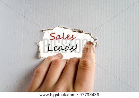 Sales Leads Text Concept