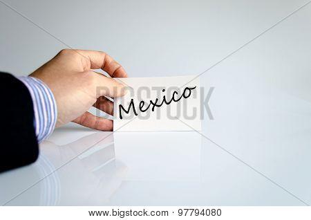 Mexico Text Concept