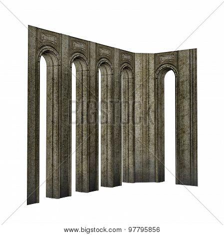 Arch pillars - 3D render