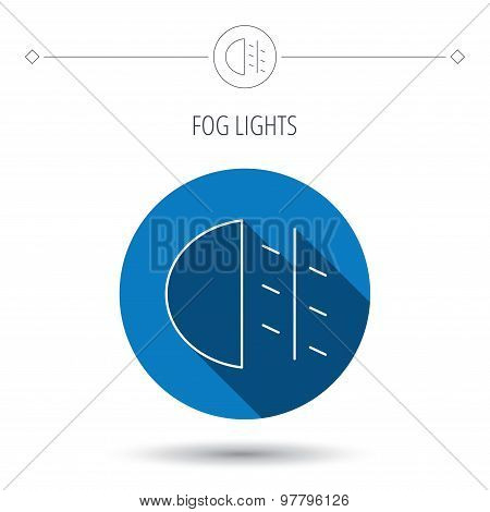 Fog lights icon. Car beam sign.