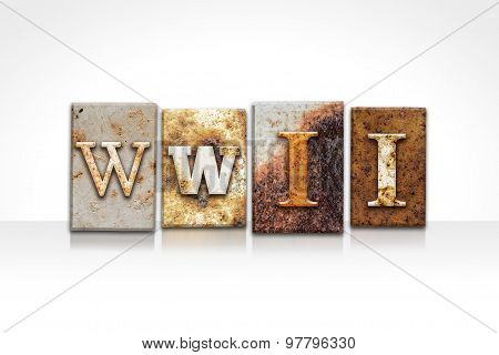 Wwii Letterpress Concept Isolated On White