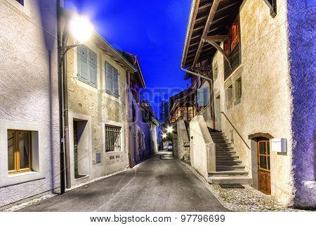 Hermance village street, Geneva, Switzerland