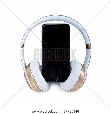 Music Headphone With Mobile Phone