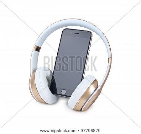 Mobile Phone And Headphone