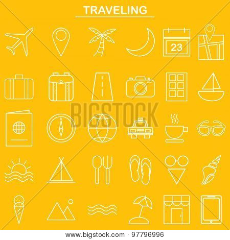 Linear traveling icon for website and app