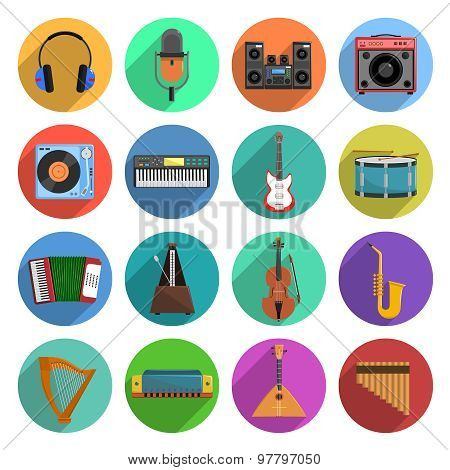 Melody And Music Icons Set