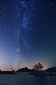 picture of anvil  - Milky Way and Anvil Island Howe Sound British Columbia - JPG