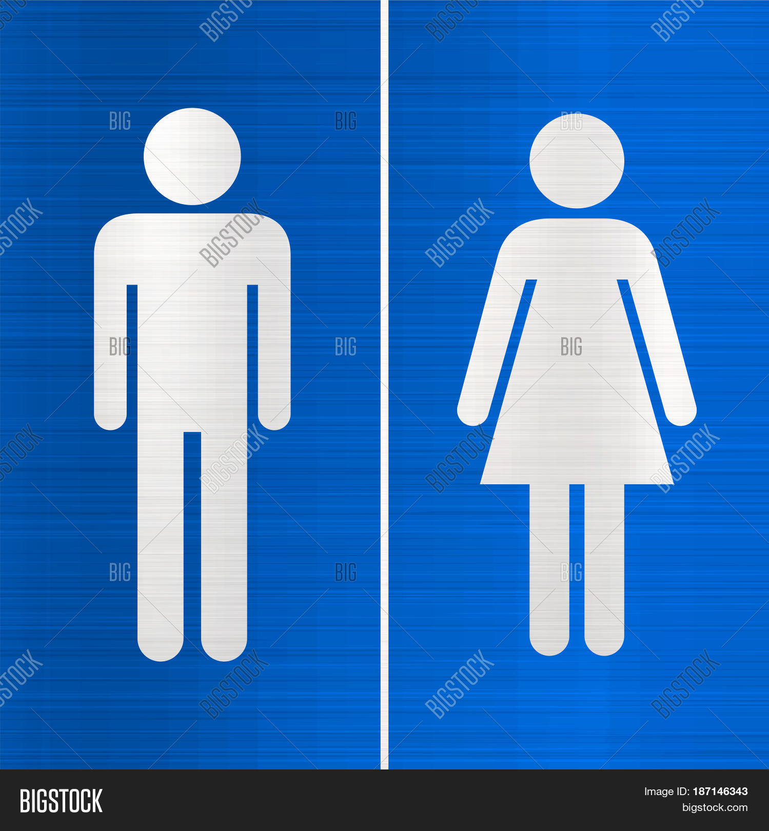 Womens Public Bathroom Toilet Video: Toilet Sign Blue Wc Restroom Women Image & Photo
