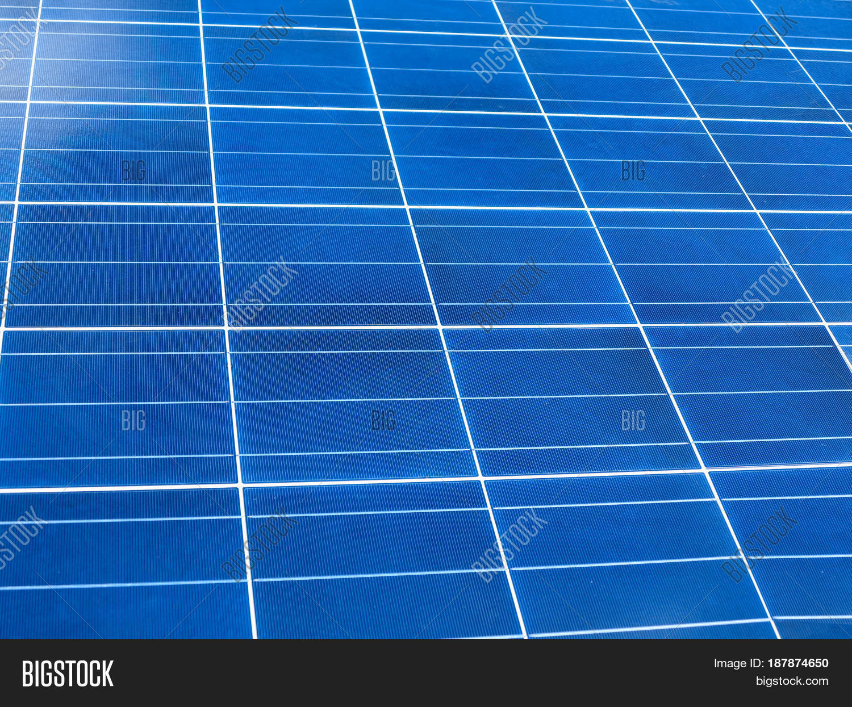 Close Blue Solar Panel Square Image Amp Photo Bigstock