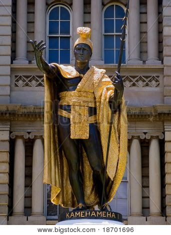 Statue of the last  King Kamehameha of Hawaii