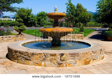 Fountain in Napa Valley California