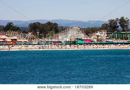 Boardwalk in Santa Cruz, California