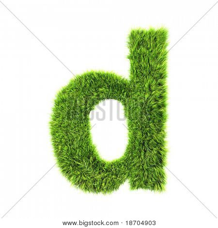 grass lower-case letter