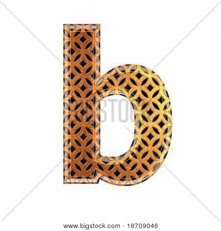 Oriental 3d letter
