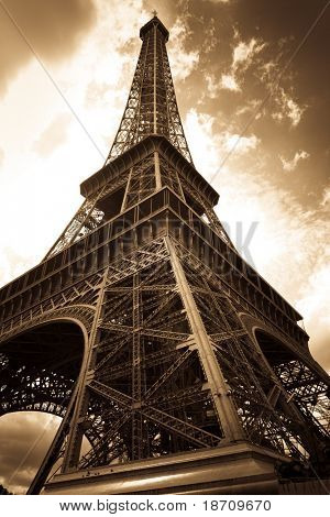 Vintage Eiffel tower