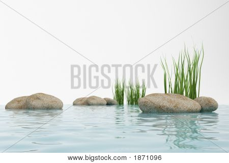 Water, Grass And Stone