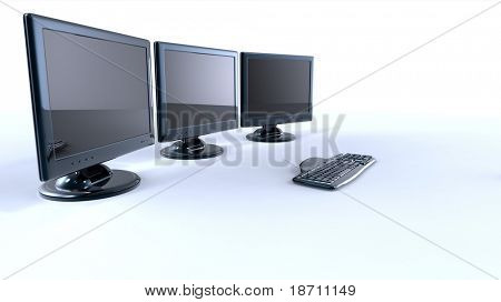 3d lcd monitors with keyboard