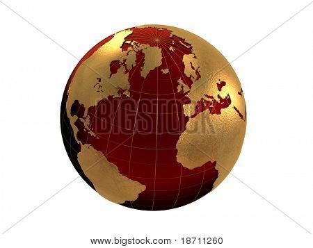 velvet and golden globe