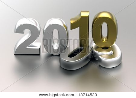 3d new year 2010 background