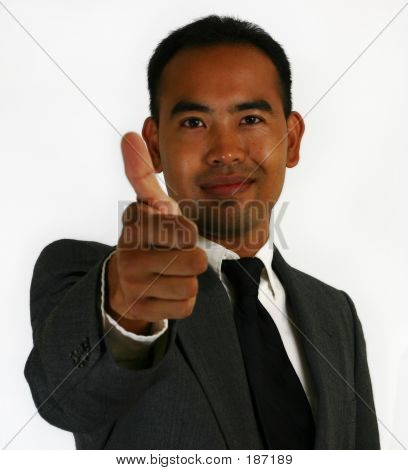 Business Man Thumbs Up